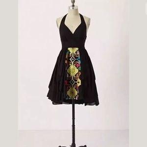 Anthro Floreat Palenque Halter Dress